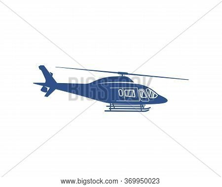 Helicopter Logo Design Vector Template. Silhouette Of Helicopter Design Illustration
