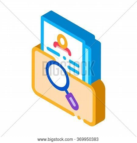 Scientific Study Of Personal Human Resource Icon Vector. Isometric Scientific Study Of Personal Huma