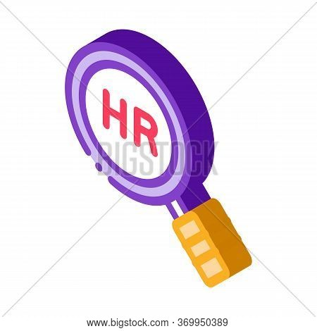 Human Resource Research Icon Vector. Isometric Human Resource Research Sign. Color Isolated Symbol I