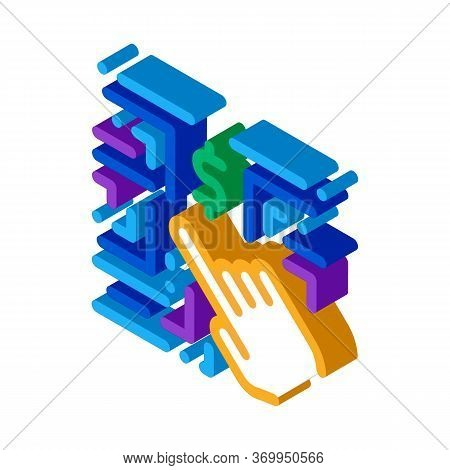 Money-making Innovation Icon Vector. Isometric Money-making Innovation Sign. Color Isolated Symbol I