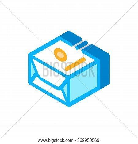 Pack Of Creamy Spread Icon Vector. Isometric Pack Of Creamy Spread Sign. Color Isolated Symbol Illus