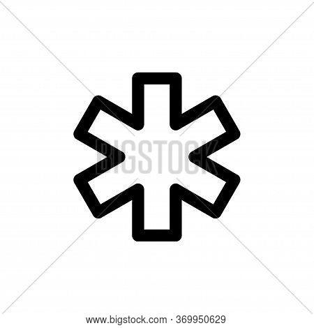 Sos Icon Flat Vector Template Design Trendy