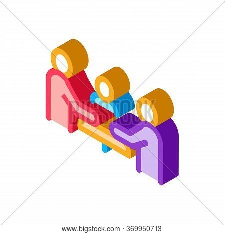 Third Party Discussion Icon Vector. Isometric Third Party Discussion Sign. Color Isolated Symbol Ill