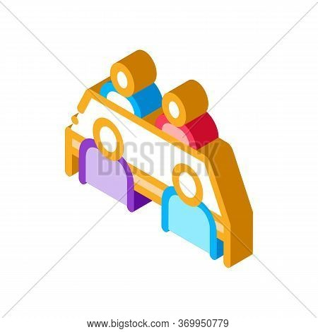 Negotiation Table Icon Vector. Isometric Negotiation Table Sign. Color Isolated Symbol Illustration