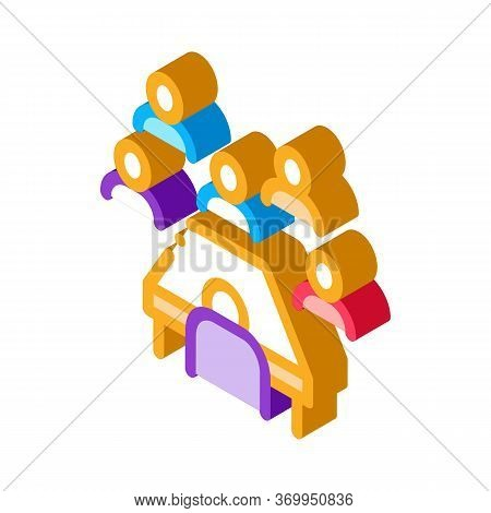 Business Seminar Icon Vector. Isometric Business Seminar Sign. Color Isolated Symbol Illustration