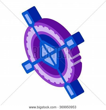Non Impeller Tire Icon Vector. Isometric Non Impeller Tire Sign. Color Isolated Symbol Illustration