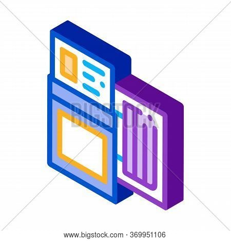 Tire Diagnostics Icon Vector. Isometric Tire Diagnostics Sign. Color Isolated Symbol Illustration