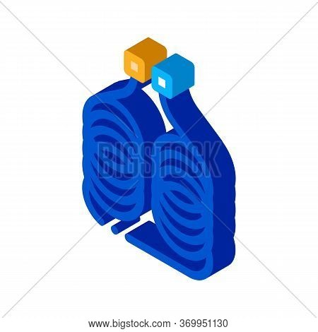 Diagnostic Device Icon Vector. Isometric Diagnostic Device Sign. Color Isolated Symbol Illustration