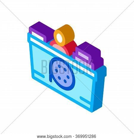Recorder Seller Icon Vector. Isometric Recorder Seller Sign. Color Isolated Symbol Illustration