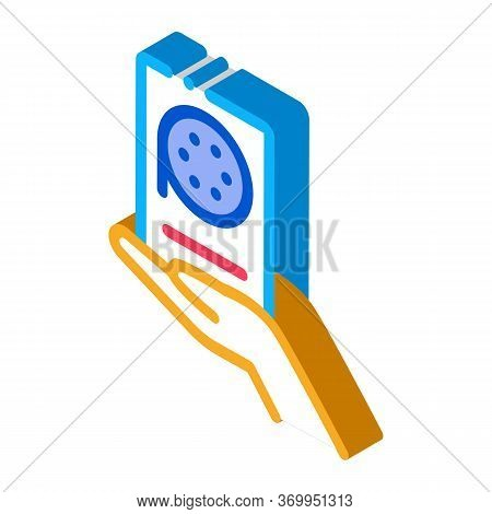 Voice Recorder Icon Vector. Isometric Voice Recorder Sign. Color Isolated Symbol Illustration