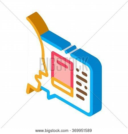 Man Opinion About Book Icon Vector. Isometric Man Opinion About Book Sign. Color Isolated Symbol Ill
