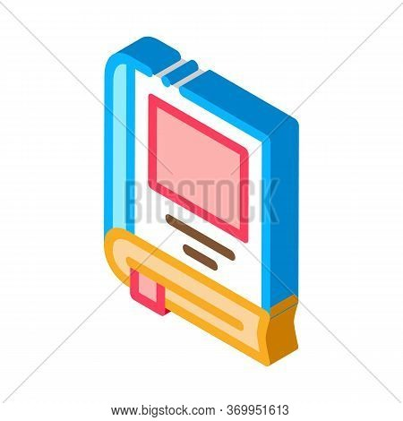 Bookmarked Book Icon Vector. Isometric Bookmarked Book Sign. Color Isolated Symbol Illustration
