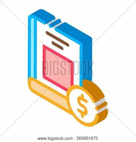 Book Value Icon Vector. Isometric Book Value Sign. Color Isolated Symbol Illustration