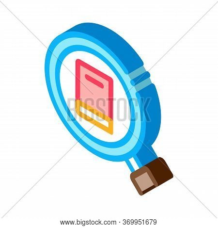Specific Book Target Icon Vector. Isometric Specific Book Target Sign. Color Isolated Symbol Illustr