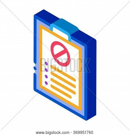 Written Protest Requests Icon Vector. Isometric Written Protest Requests Sign. Color Isolated Symbol