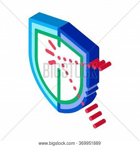 Strike For Defense Icon Vector. Isometric Strike For Defense Sign. Color Isolated Symbol Illustratio