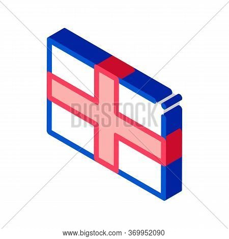 Flag Of The Great Britain Icon Vector. Isometric Flag Of The Great Britain Sign. Color Isolated Symb