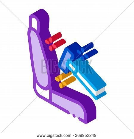 Cleaning Of Seats In Car Icon Vector. Isometric Cleaning Of Seats In Car Sign. Color Isolated Symbol