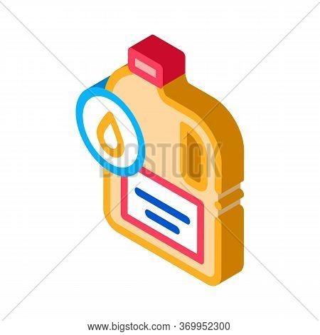 Liquid Fuel Icon Vector. Isometric Liquid Fuel Sign. Color Isolated Symbol Illustration