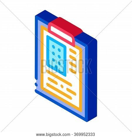 Estimate House Information Icon Vector. Isometric Estimate House Information Sign. Color Isolated Sy