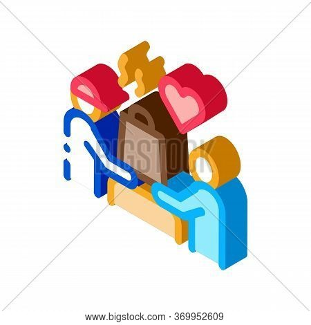 Item To Pick Up Food Icon Vector. Isometric Item To Pick Up Food Sign. Color Isolated Symbol Illustr