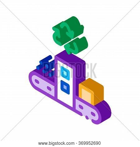 Start Of Industry Icon Vector. Isometric Start Of Industry Sign. Color Isolated Symbol Illustration
