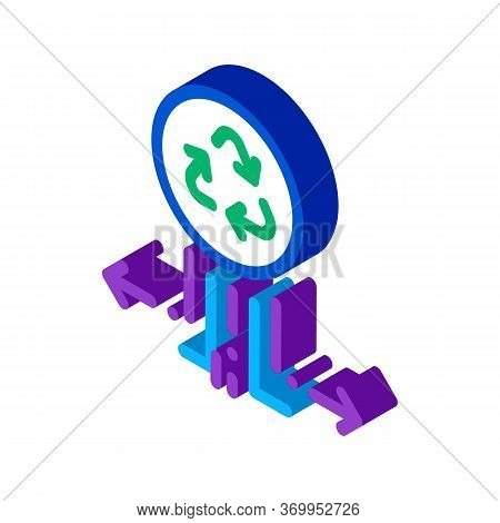 Environmental Labeling Popularity Icon Vector. Isometric Environmental Labeling Popularity Sign. Col