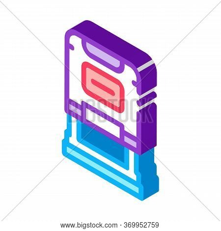 Court Seal Icon Vector. Isometric Court Seal Sign. Color Isolated Symbol Illustration