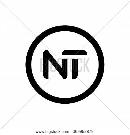 Initial Letter Nt Logo Design Vector Template. Creative Abstract Nt Letter Logo Design