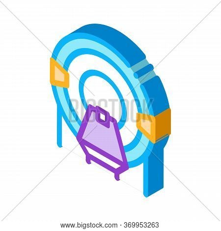 Place In Solarium Icon Vector. Isometric Place In Solarium Sign. Color Isolated Symbol Illustration
