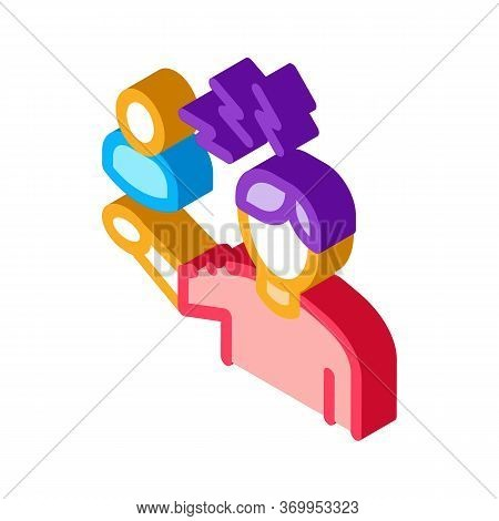 Discussion And Condemnation Of Man Icon Vector. Isometric Discussion And Condemnation Of Man Sign. C