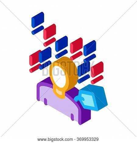 Many Requirements For Person Icon Vector. Isometric Many Requirements For Person Sign. Color Isolate