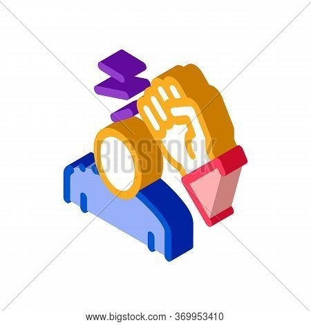 Beating Man Icon Vector. Isometric Beating Man Sign. Color Isolated Symbol Illustration
