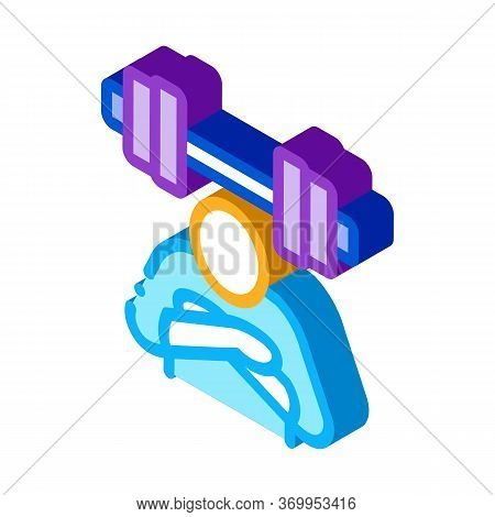 Inaction In Sports Icon Vector. Isometric Inaction In Sports Sign. Color Isolated Symbol Illustratio