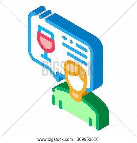 Representative Of Wine Icon Vector. Isometric Representative Of Wine Sign. Color Isolated Symbol Ill