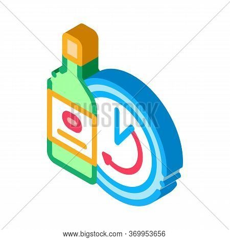 Temporary Aging Of Wine Icon Vector. Isometric Temporary Aging Of Wine Sign. Color Isolated Symbol I