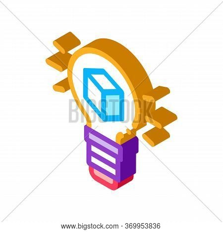 Savvy Parcel Icon Vector. Isometric Savvy Parcel Sign. Color Isolated Symbol Illustration