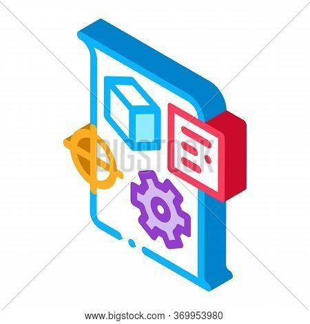 Technical Dispatch Icon Vector. Isometric Technical Dispatch Sign. Color Isolated Symbol Illustratio