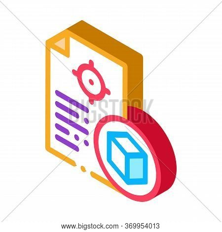 Parcel Delivery Document Icon Vector. Isometric Parcel Delivery Document Sign. Color Isolated Symbol