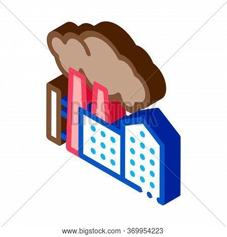 Harmful Substances Stations Above Houses Icon Vector. Isometric Harmful Substances Stations Above Ho