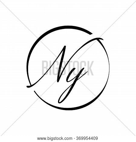 Initial Letter Ny Logo Design Vector Template. Creative Abstract Ny Letter Logo Design