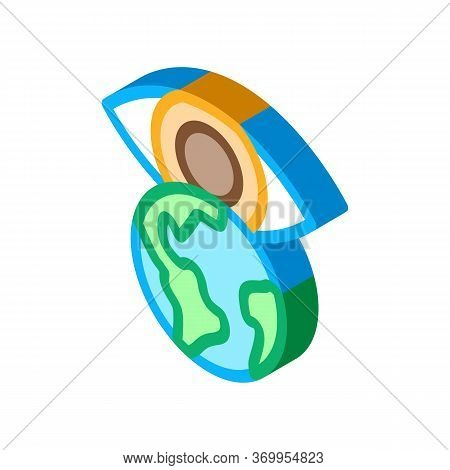 See World With Your Own Eyes Icon Vector. Isometric See World With Your Own Eyes Sign. Color Isolate