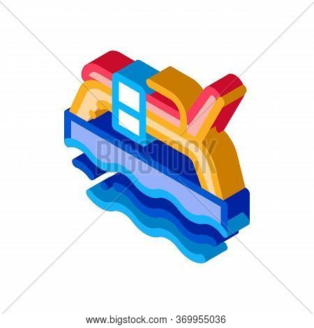 Underwater Tube Icon Vector. Isometric Underwater Tube Sign. Color Isolated Symbol Illustration