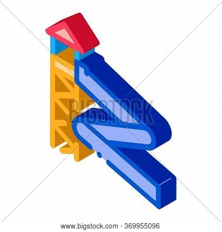 Water Slide Icon Vector. Isometric Water Slide Sign. Color Isolated Symbol Illustration