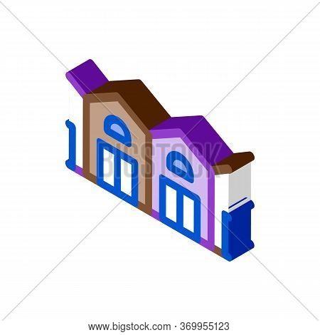 Garage Network Icon Vector. Isometric Garage Network Sign. Color Isolated Symbol Illustration
