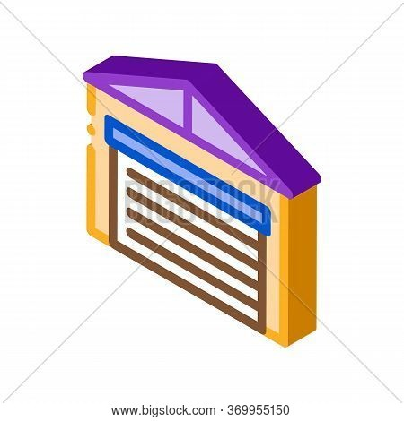 Car Parking Closed Icon Vector. Isometric Car Parking Closed Sign. Color Isolated Symbol Illustratio