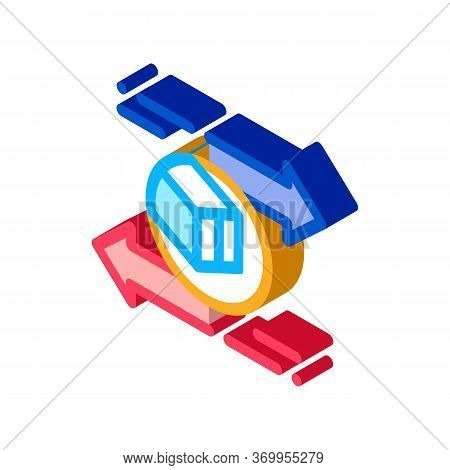 Shipping And Arrival Icon Vector. Isometric Shipping And Arrival Sign. Color Isolated Symbol Illustr