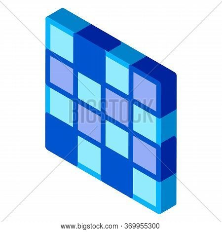 Symmetrical Tile Surface Icon Vector. Isometric Symmetrical Tile Surface Sign. Color Isolated Symbol
