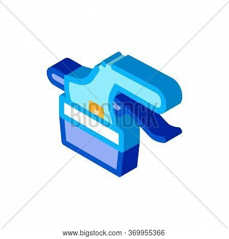 Tile Cutter Icon Vector. Isometric Tile Cutter Sign. Color Isolated Symbol Illustration