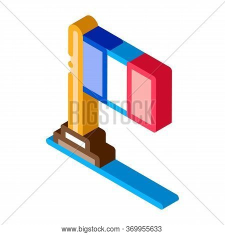 Flag Of France Icon Vector. Isometric Flag Of France Sign. Color Isolated Symbol Illustration